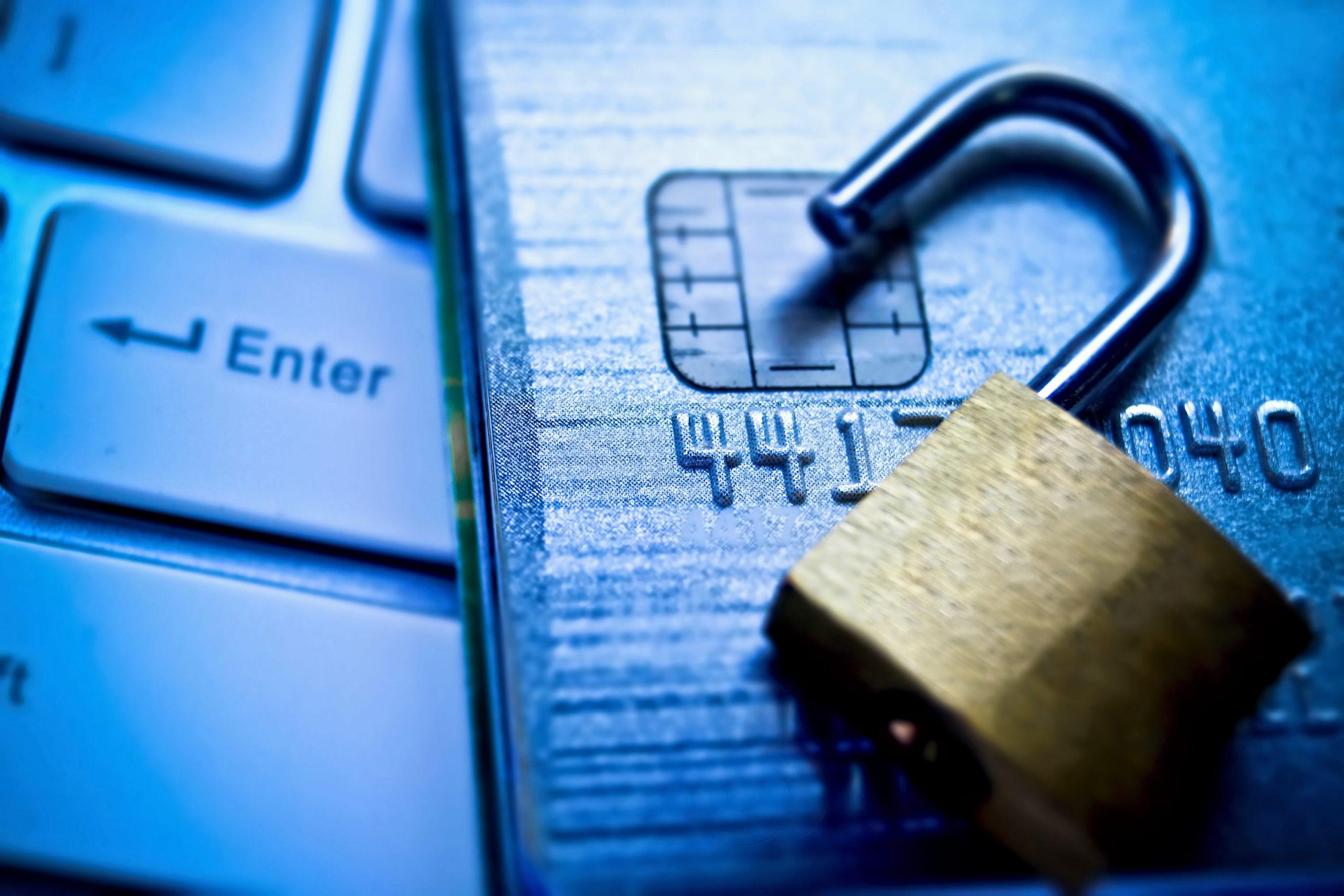 padlock on credit card