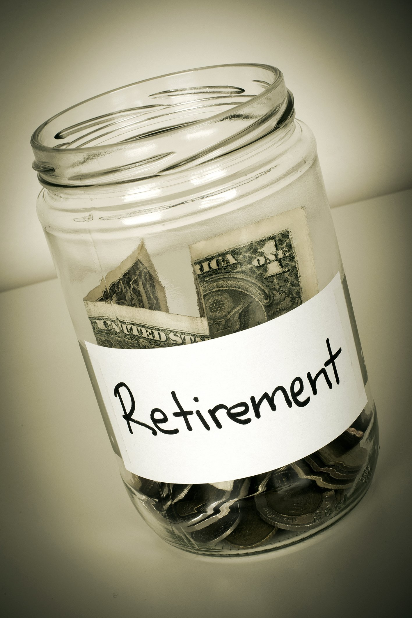 cash in a jar for retirement