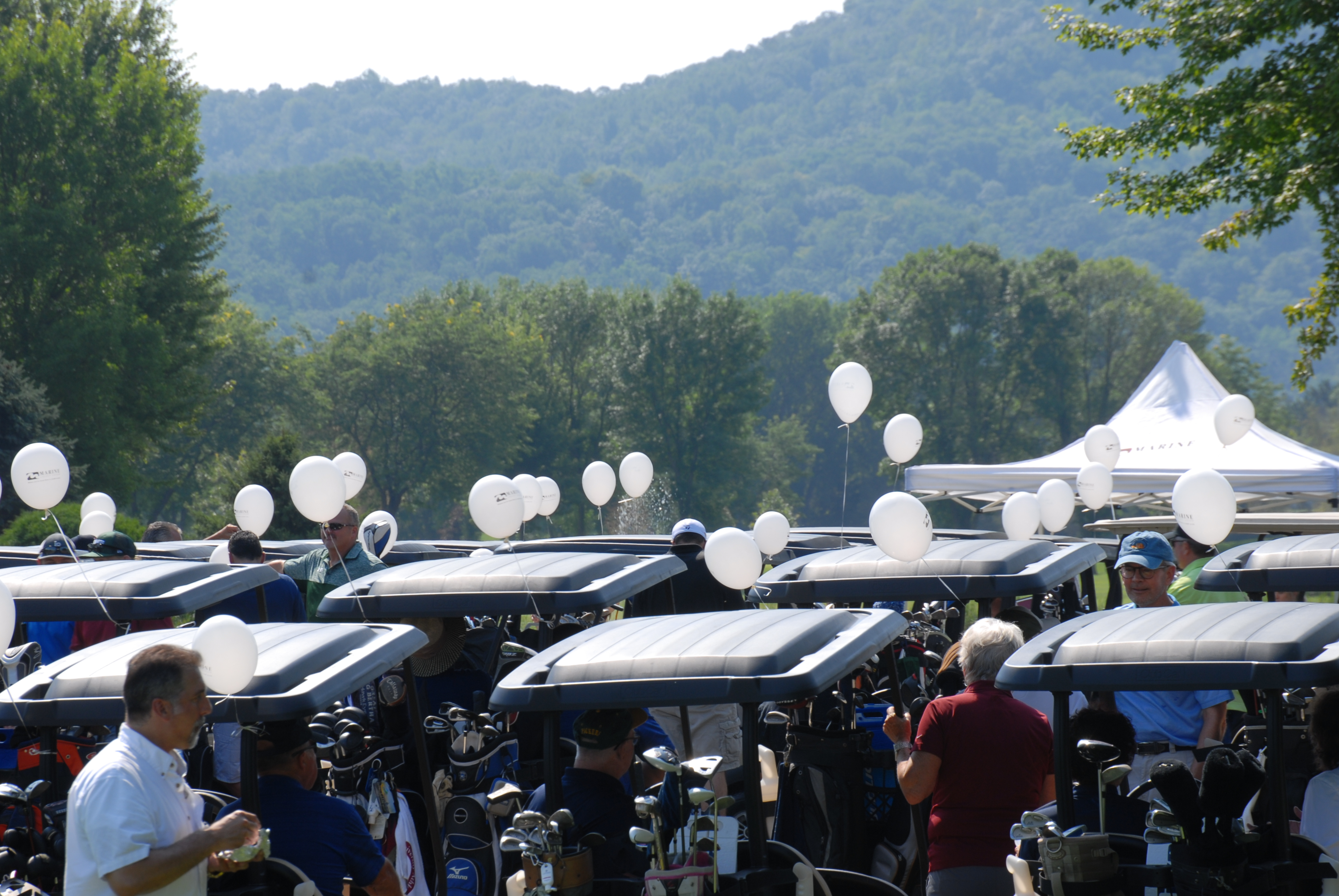 Balloons on golf carts